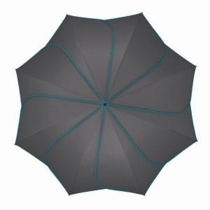 Parapluie droit mixte automatique Sunflower Pierre Cardin gris et turquoise