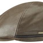 Casquette plate Redding Stetson cuir marron foncé + protège-oreilles rabattables en polaire