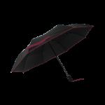 Parapluie pliant femme automatique noir petite bordure violet