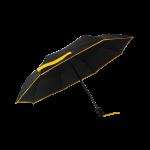 Parapluie pliant femme automatique noir petite bordure jaune
