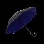 Parapluie droit mixte automatique noir et bleu