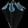 Parapluie droit mixte automatique noir et turquoise