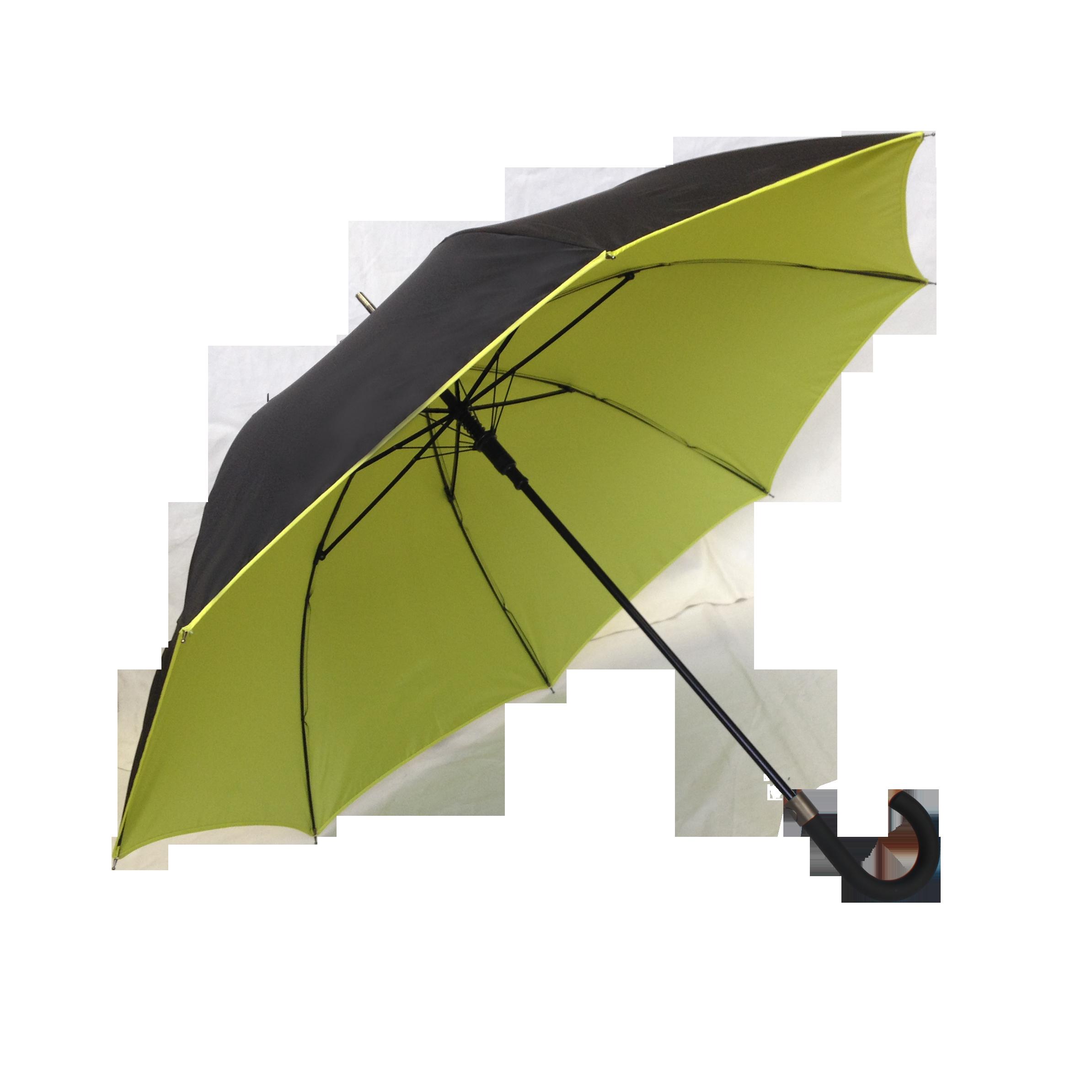 parapluie droit mixte automatique noir et jaune kausia. Black Bedroom Furniture Sets. Home Design Ideas