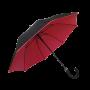 Parapluie droit mixte automatique noir et rouge