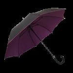 Parapluie droit mixte automatique noir et violet