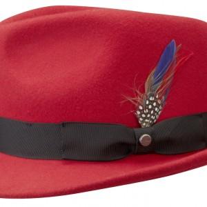 Chapeau trilby Richmond Stetson rouge