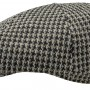 Casquette Gavroche Many Houndstooth Stetson noir