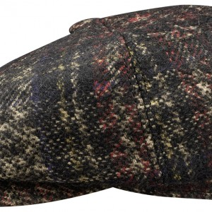 Casquette Gavroche Hatteras Check Virgin Wool Stetson noir