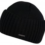 Bonnet en tricot Northport Merino Wool Stetson noir