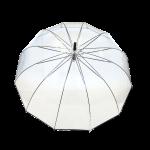 Parapluie droit femme automatique dôme transparent petite bordure noir