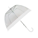 Parapluie cloche femme transparent bordure blanche