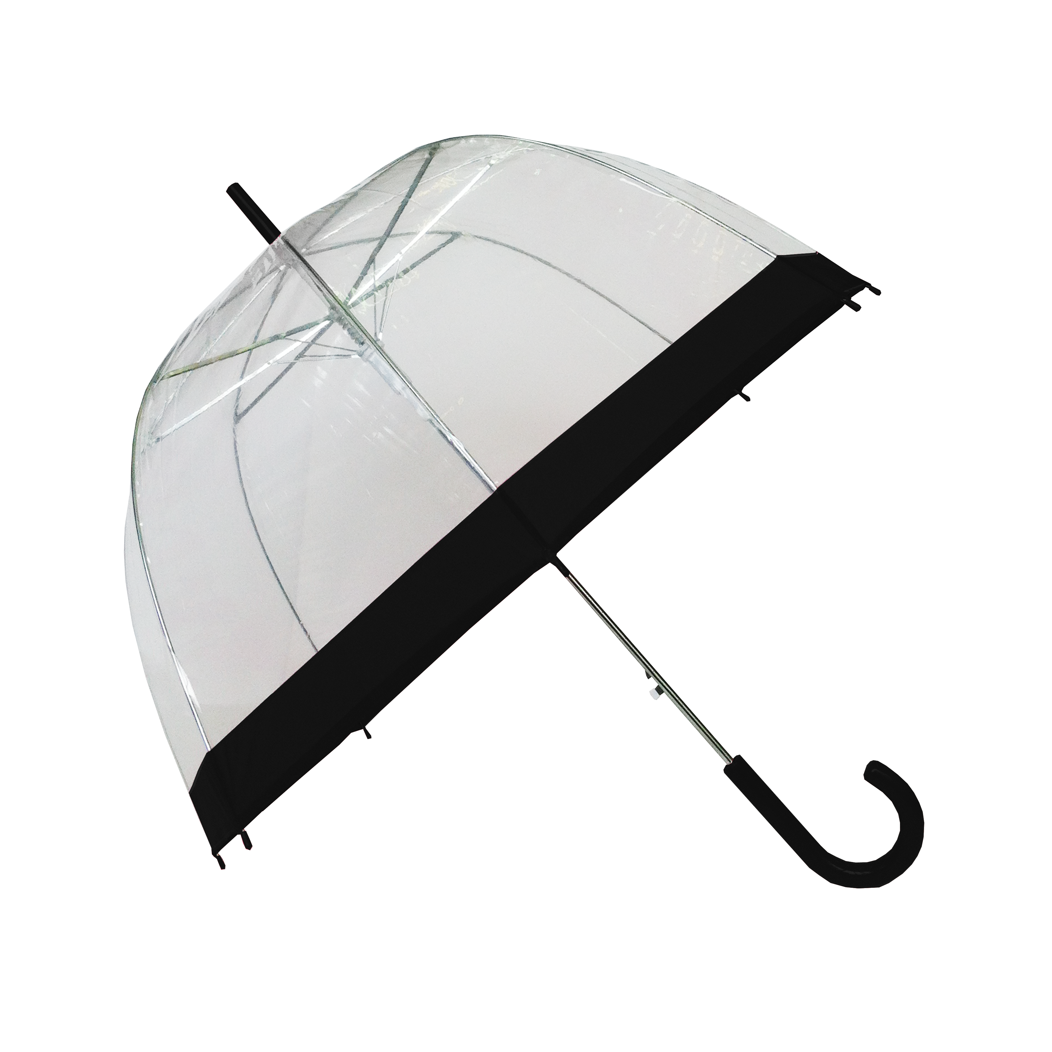 Parapluie cloche femme automatique transparent bordure - Parapluie cloche transparent isotoner ...