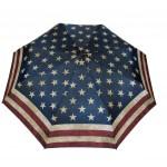 Parapluie pliant mixte automatique drapeau américain