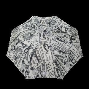 Parapluie pliant femme automatique imprimé journaux