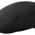 Casquette plate Madison Wool Cashmere Stetson marine