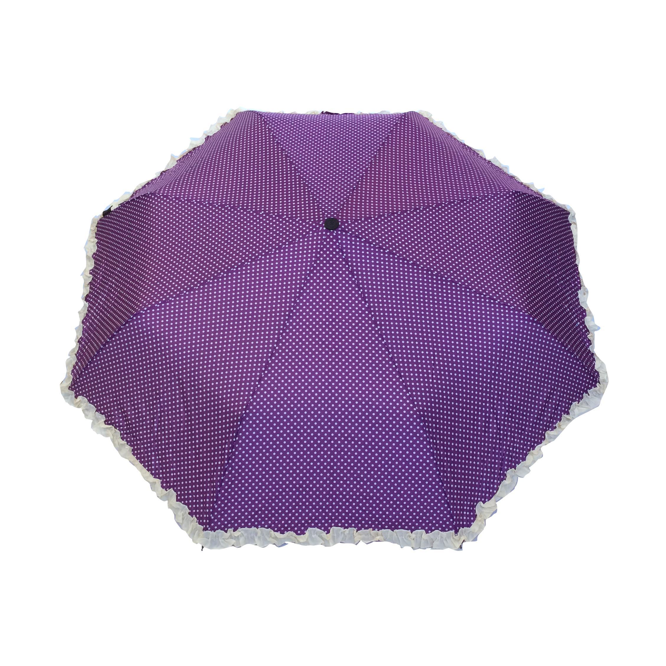 chaussures de sport 1c829 f37cc Parapluie pliant femme automatique froufrou violet