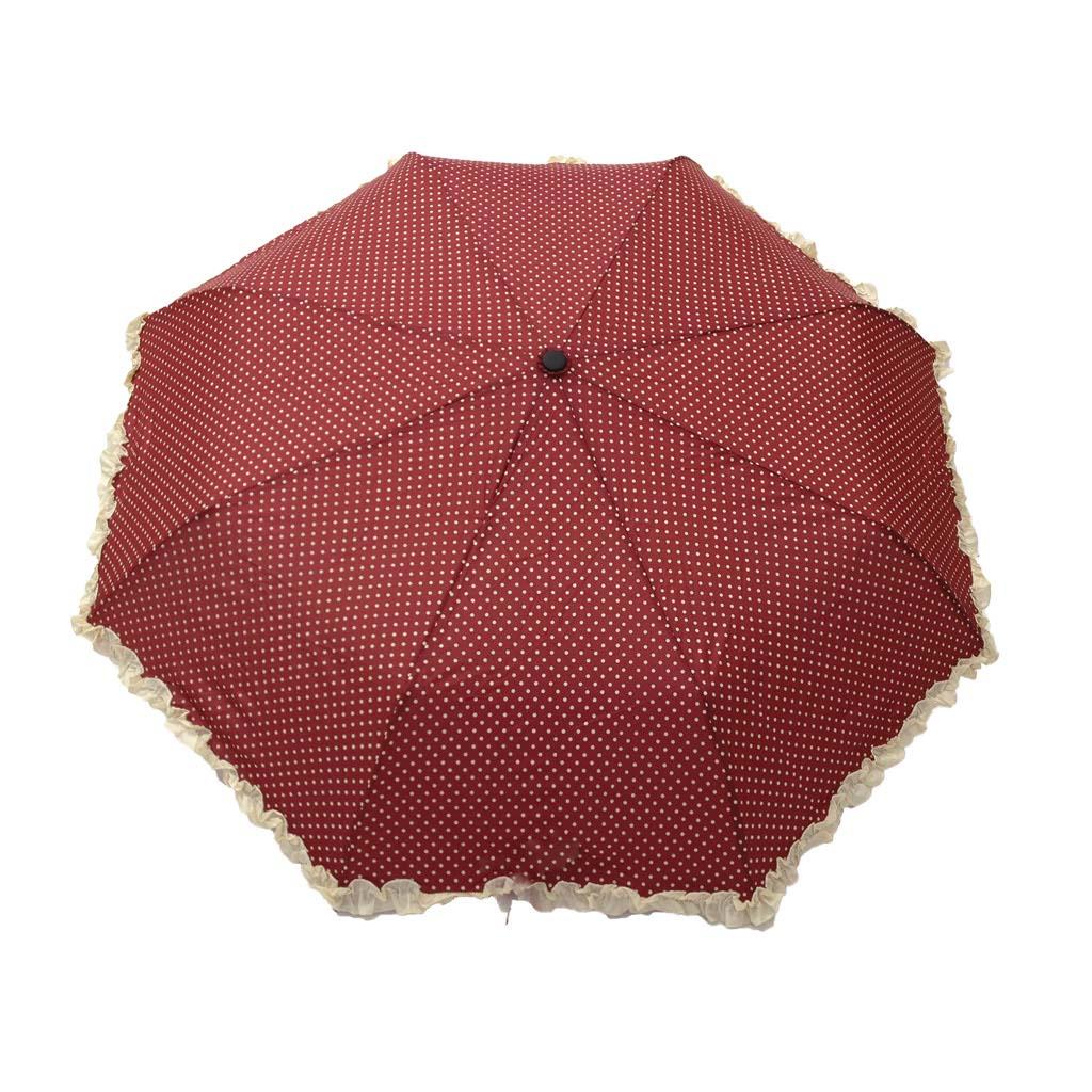 pas cher pour réduction f5ce2 87b88 Parapluie pliant femme automatique froufrou rouge