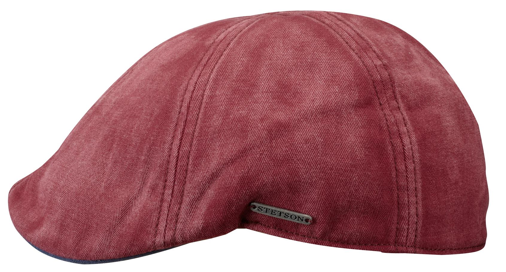 Casquette plate Texas Cotton Stetson rouge - Kausia f29bdcc6f9a