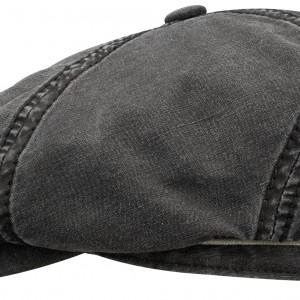 Casquette gavroche Brooklin Cotton Linen Stetson noir