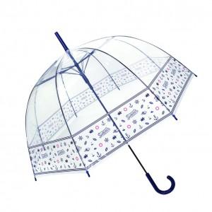 Parapluie cloche femme transparent marine