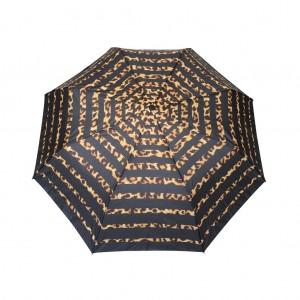 Parapluie pliant femme automatique New rayure léopard