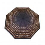 Parapluie pliant femme automatique New rayure léopard haut noir