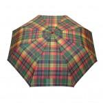 Parapluie pliant écossais fond rouge femme automatique