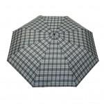 Parapluie pliant écossais fond gris femme automatique