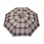 Parapluie pliant écossais fond beige femme automatique