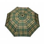 Parapluie pliant écossais fond vert femme automatique