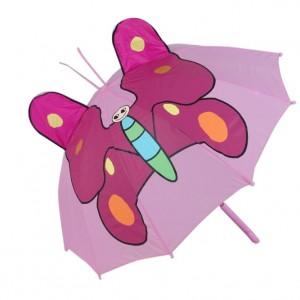 Parapluie droit enfant automatique papillon
