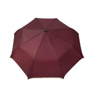 Parapluie pliant femme automatique bordeaux