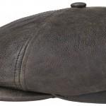 Casquette plate Oregon Cowhide Stetson cuir marron