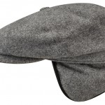 Casquette Gavroche Hatteras Earflaps Wool/Cashmere Stetson gris