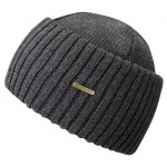 Bonnet en tricot Northport Merino Wool Stetson gris