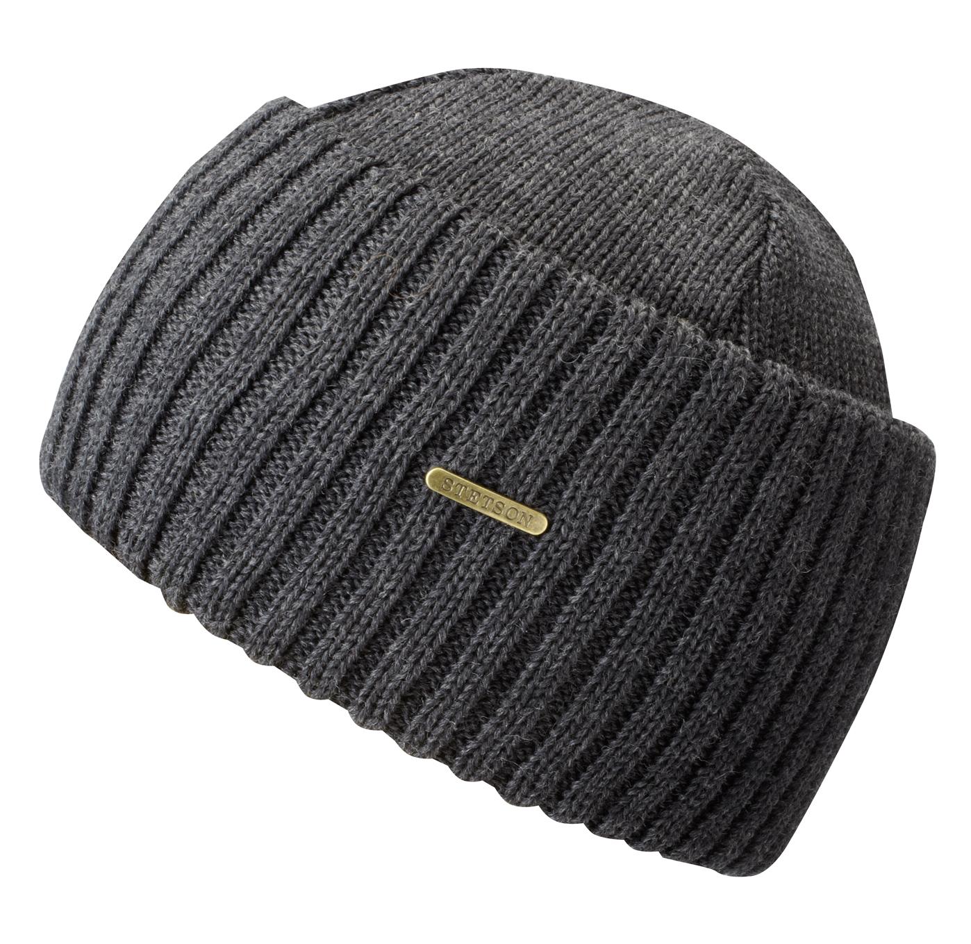 Bonnet en tricot Northport Merino Wool Stetson gris - Kausia da5faea805a