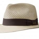Chapeau Panama Fedora Plumilla Stetson beige