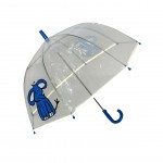 Parapluie droit enfant transparent éléphant bordure fluorescente