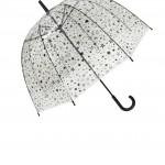 Parapluie cloche femme transparent étoiles