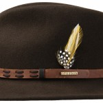 Chapeau malléable Leather Trim Vitafelt Stetson marron foncé