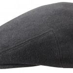 Casquette plate Kent Wool Earflaps Stetson anthracite