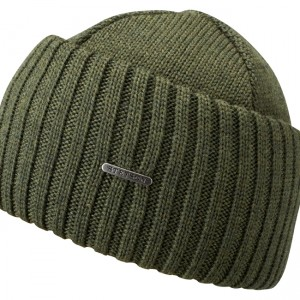 Bonnet en tricot Northport Merino Wool Stetson kaki