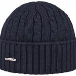 Bonnet en tricot Georgia Wool Stetson marine
