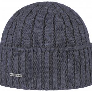 Bonnet en tricot Georgia Wool Stetson bleu