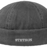 Bonnet Docker Old Cotton Winter Stetson noir