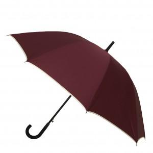 Parapluie droit mixte automatique bordeaux