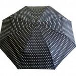 Parapluie pliant pois blanc femme automatique