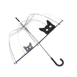 Parapluie cloche chat femme automatique transparent