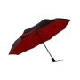 Parapluie pliant mixte automatique anti UV noir et rouge