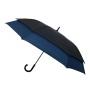 Parapluie droit mixte automatique double extension noir et bleu
